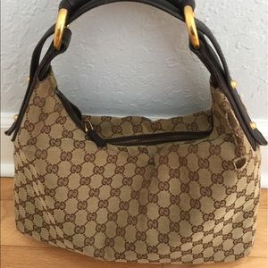 Vintage Monogram Gucci Horsebit Bag